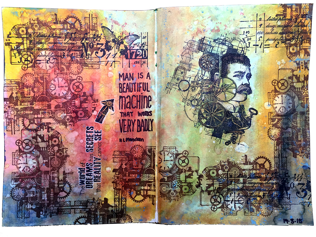 Art Journal Pages With Carabelle Studio Stamps