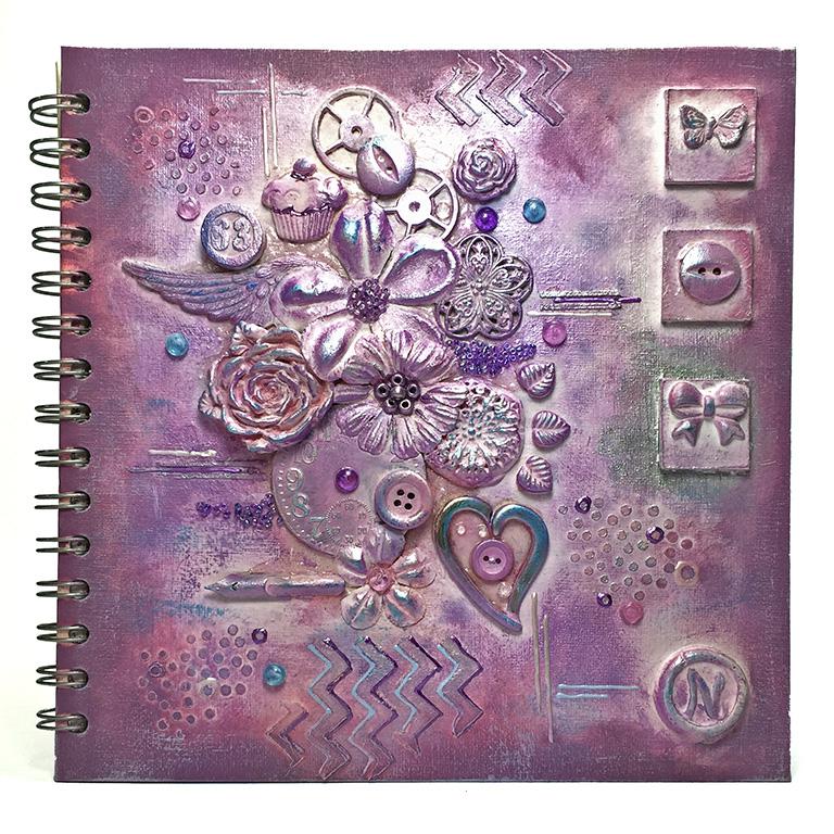 mixed media sketchbook cover