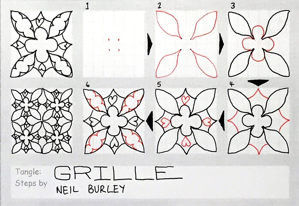 Grille A Tangle Pattern Perfectly4med Artist At